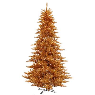 7.5 ft Copper Christmas Tree | Prelit Clear LED Xmas Tree